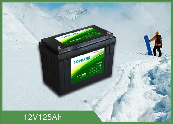 12V 125Ah LiFePO4 Bluetooth RV Battery With Charging / Discharging Availability