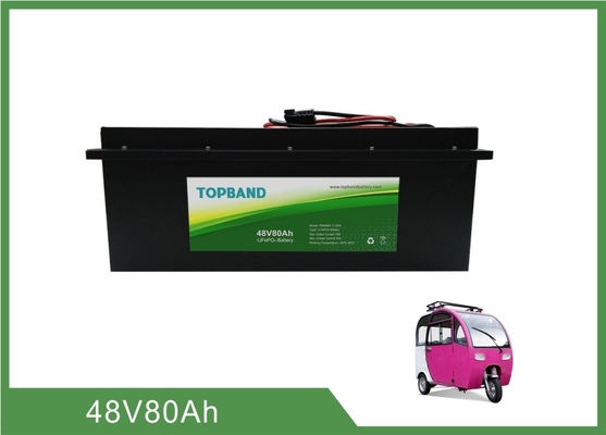 Top Grade Lifepo4 Prismatic Cells 48V 80A Quick Charge Mode For Electric Tricycle